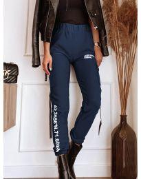 Дамски панталон в тъмно синьо - код 1142