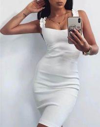 Дамска рокля по тялото в бяло - код 0229
