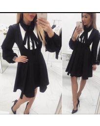 Атрактивен модел рокля в черно - код 414 - 1