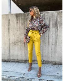 Елегантен панталон в жълто - код 788