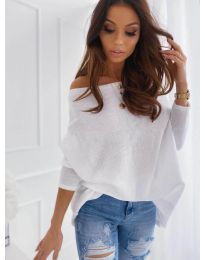 Дамска блуза в бяло - код 0065