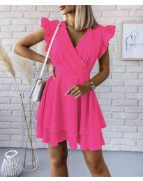 Екстравагантна рокля в циклама - код 409