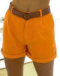Къси дамски панталонки в оранжево - код 2236