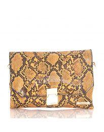 Дамска чанта със змийски десен в оранжево - код DM-04