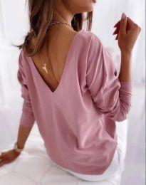 Свободна дамска блуза в розово - код 5173