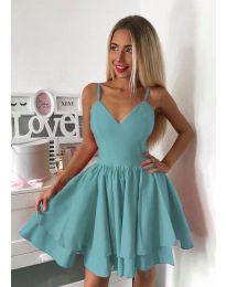 Стилна рокля в мента - код 3030