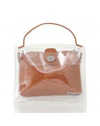 Дамска чанта в  кафяво - код YF - D2025