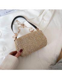 Елегантна дамска чанта в цвят капучино - код B505