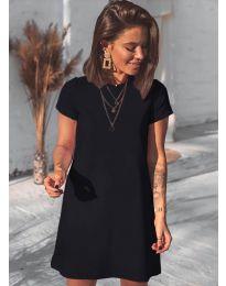 Изчистена рокля в черно - код 2299