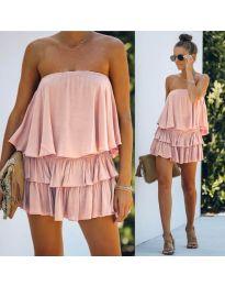 Свободна рокля в  розово - код 0489