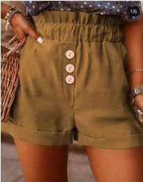 Къси панталонки в кафяво - код 9383