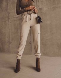 Дамски панталон в бежово - код 2996