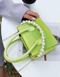 Дамска чанта в зелено - код B436