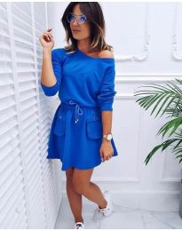 Свободна рокля в синьо - код 431