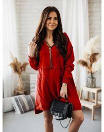Дамска рокля в червено - код 6113