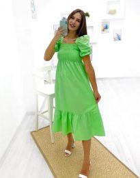 Дамска рокля в зелено - код 3283