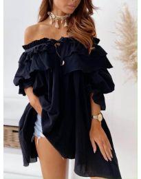 Ефектна рокля в черно - код 9865