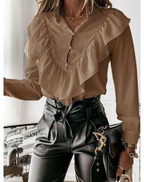 Дамска риза в цвят капучино - код 9032