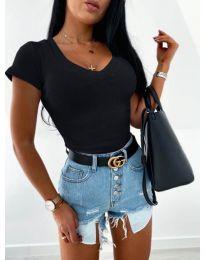 Изчистена дамска блуза в черно - код 756