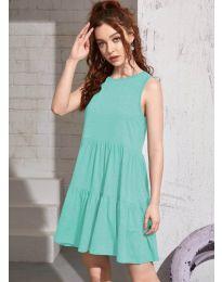 Свободна изчистена рокля в цвят мента  - код 4471