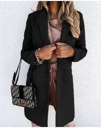Свободно палто в черно - код 7709