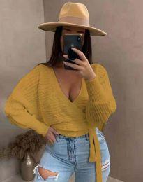 Дамска блуза в цвят горчица - код 3728
