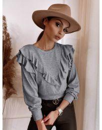 Елегантна блуза в сиво - код 7200