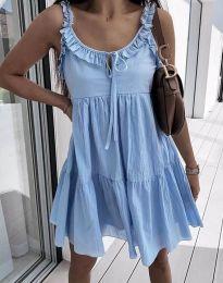 Дамска рокля в светлосиньо - код 2540