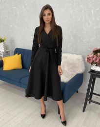 Дамска рокля  в черно - код 0576