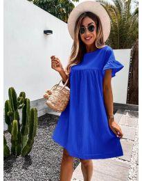 Свободна дамска рокля в синьо - код 744