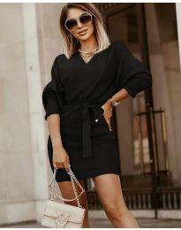 Дамска рокля в черно - код 9876