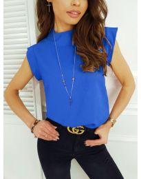 Елегантна дамска тениска в синьо - код 177