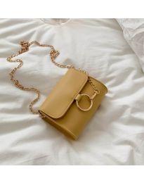 Дамска чанта в цвят горчица - код B45