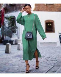 Свободна дамска рокля в зелено - код 5501