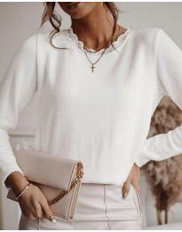 Атркактивна дамска блуза в бяло - код 1580