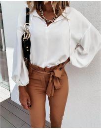Дамска риза в бяло - код 924