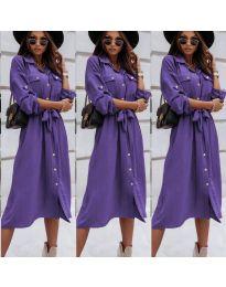 Свободна дамска рокля в  лилаво - код 1510