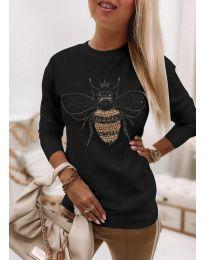 Атрактивна дамска блуза в черно - код 4824