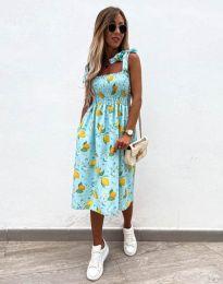 Дамска рокля с атрактивен десен - код 4535 - 3