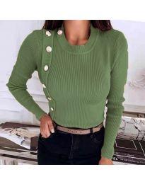 Дамска блуза в масленозелено - код 9989