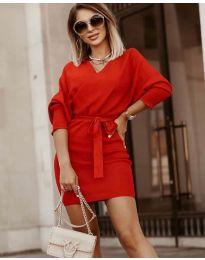 Дамска рокля в червено - код 9876