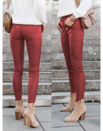 Дамски панталон в цвят бордо - код 5052