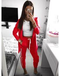 Дамски комплект в червен цвят - код 800