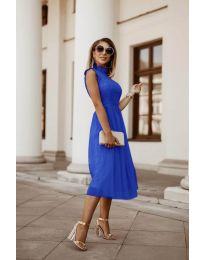 Ефирна дамска рокля в тъмно синьо - код 8090