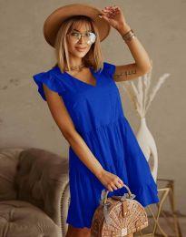 Дамска рокля в тъмносиньо - код 6224