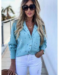 Дамска риза в светло синьо - код 8050
