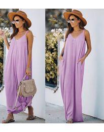Свободна дълга рокля в светло лилаво - код 0209