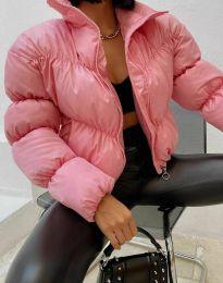 Късо дамско яке в розово - код 0017