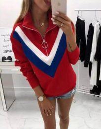 Ефектна дамска блуза в червено - код 7890