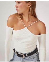 Дамска блуза в бяло - код 8063